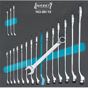 HAZET Ring-Maulschlüssel Satz 18-teilig 163-99/18 Außen-Doppel-Sechskant Profil SW 6 - 27 mm