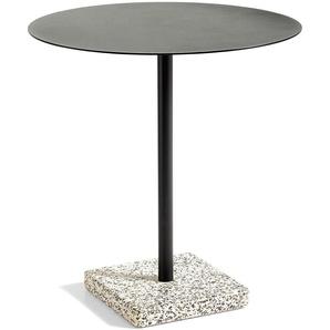 Hay Terrazzo Round Gartentisch 70 Grey - Charcoal (h) 74 X (Ø) 70 Cm