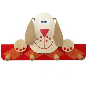 Garderobe Dog Rot Kleiderhaken Jackenhaken Haken Kleidung Hund Bauernhof Kinderkleiderhaken NEU
