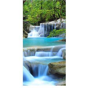 wandmotiv24 Türtapete Wasserfall im Wald Tapete Tür Türaufkleber Türbild Aufkleber 100 x 200cm (B x H) - Dekorfolie selbstklebend