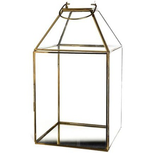 Laterne Glamour, 20x20x34cm, gold