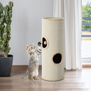 PawHut® Kratztonne Spieltonne Spielbaum Katzenhöhle Kratzsäule