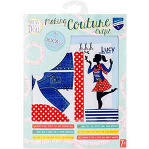 Vervaco Lucy Polka Dots Kleid Ihrer Puppe Outfit, damit Set, Mehrfarbig