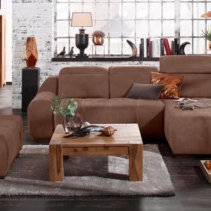 Premium Collection By Home Affaire Ecksofa »Spirit« ohne Bettfunktion, braun, komfortabler Federkern, hoher Sitzkomfort
