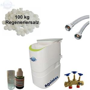 Wasserenthärter SmartIQ50 Komplettset inkl. Salz Montageblock u. Flexschläuche - AQUINTOS-WASSERAUFBEREITUNG