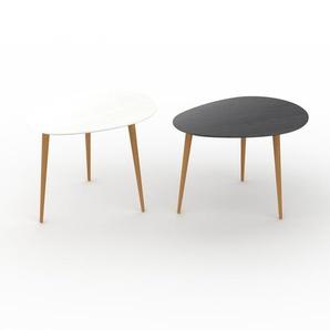 Couchtisch Schwarz - Eleganter Sofatisch: Beste Qualität, einzigartiges Design - 67/67 x 50/47 x 50/50 cm, Konfigurator