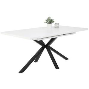 Esstisch MALOU Weiß/Schwarz ca. 160 x 90 x 76 cm