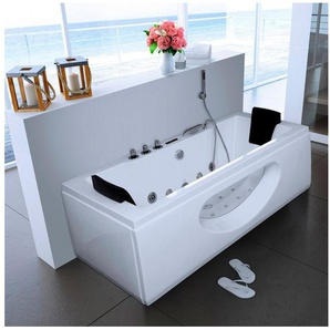 Whirlpoolwanne »White M«, B/T/H in cm: 180/90/55, mit Whirlpool-System