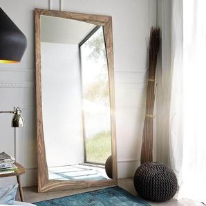 Designer-Wandspiegel Wyatt 200x100 cm Sheesham Natur, Spiegel