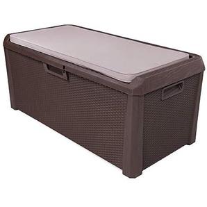Ondis24 Kissenbox Auflagenbox Santo Rattan Optik Braun Sitztruhe Inkl Passender Auflage Beige 560