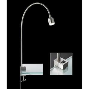 FISCHER & HONSEL flexible LED Schreibtischlampe LOVI Nickel