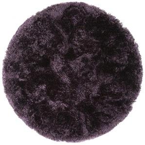 Hochflorteppich Bright Lila ø 150 cm rund