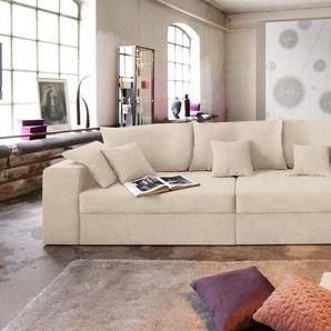 Nova Via Big-Sofa, wahlweise in XL oder XXL, beige, Microfaser PRIMABELLE®