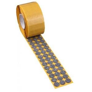 500x peha® Filzgleiter auf Rolle, grau; Ø 28 mm; Dicke: 5 mm