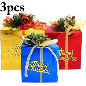 Justdolife Box Dekorative Papier Geschenkbox für Weihnachtsfeier Dekor