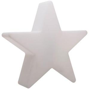 8-Seasons Shining Star Mini Dekoleuchte, weiß, Polyethylen, Ø40x10x37cm, Solarmodul, LED-Lichtsystem