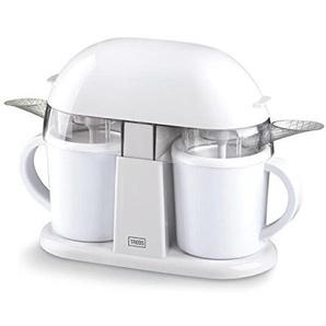 Trebs 99249 Duo Eismaschine, auch für Milchshakes und Sorbets, Rezeptvorschläge, Kapazität pro 300 ml