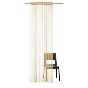 My Home Fadenvorhang »Fao-Uni«, H/B 145/145 cm, braun, transparenter Stoff