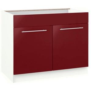 wiho Küchen Spülenschrank »Flexi2« Breite 100 cm, rot