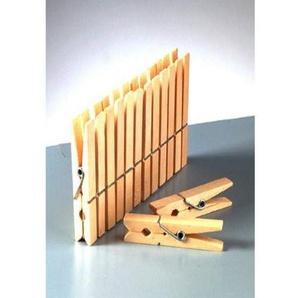 efco Wäscheklammern aus Holz, Braun, 72x 10mm, 10-tlg.