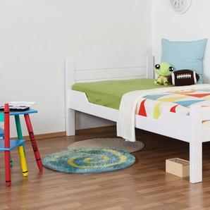 Kinderbett / Jugendbett Easy Premium Line K1/ Voll, 90 x 190 Buche weiß lackiert
