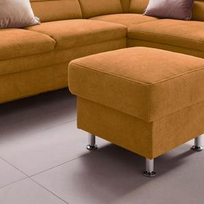 Places Of Style Hocker »Cardoso«, gelb, B/H/T: 58x47x58cm, hoher Sitzkomfort, FSC®-zertifiziert