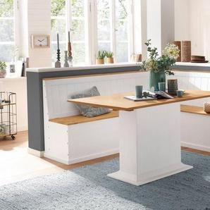 Home affaire Eckbankgruppe »Sara« bestehend aus Eckbank und Tisch in 2 Größen, weiß