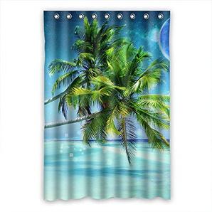 Crazy Ants Brauch Palme Palm Tree wasserdicht Polyester Stoff Badezimmer Duschvorhang Shower Curtain 120cm x 183cm(48 x 72)