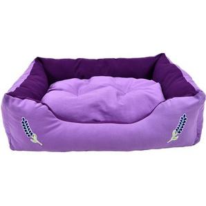 Heim Haustierbett Lavendel Gr. M 75 cm x 58 cm x 19 cm Violett
