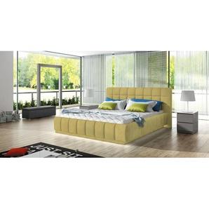 JUSTyou Arete Polsterbett Doppelbett Ehebett Gästebett Gelb 180x200 ohne LED