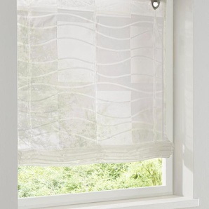 Raffrollo, weiß, Gr. 140/60 cm,  home, Material: Polyester