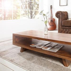 Design Couchtisch RETRO 110cm Sheesham Stone Finish TV Board Design Klassiker