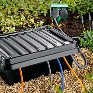 DriBox, Kabelschutzbox 330, Verteilerbox outdoor, 41 x 33 x 14,5 cm, schwarz