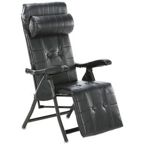 Multi-Positions-Komfort-Liegestuhl, Schwarz