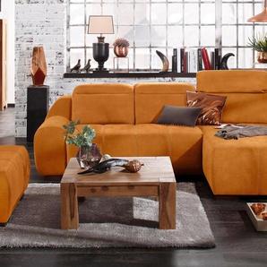 Premium Collection By Home Affaire Ecksofa »Spirit« mit Schlaffunktion, gelb, komfortabler Federkern, hoher Sitzkomfort