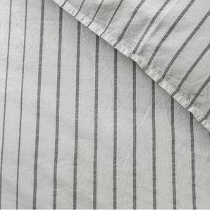 Merlo 100 % Baumwolle Bettwaescheset (155 x 220 cm), Grau
