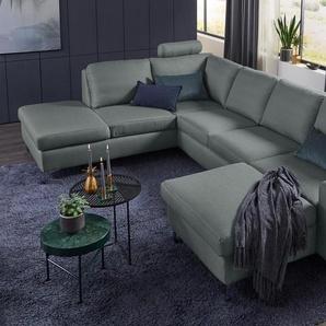 Set One By Musterring Wohnlandschaft »SO 1100«, grau, 5 Jahre Hersteller-Garantie, hoher Sitzkomfort