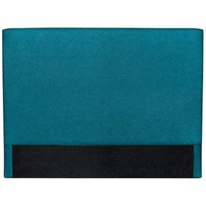 Bettkopfteil, blaugrüner Stoff, 160 cm ZORYA