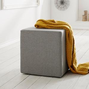 Sitzwürfel Dado 45x45 cm Grau Hocker, Sitzhocker / Sitzwürfel