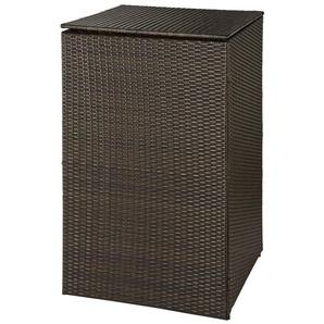 HANSE GARTENLAND Mülltonnenbox , für 1x120 l aus Polyrattan, B/T/H: 64/66/109 cm