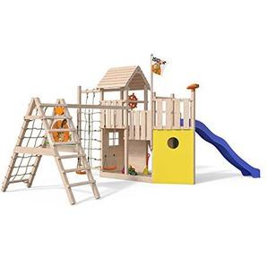 ISIDOR Kon Tiki Neo Spielturm mit erweitertem Schaukelanbau Kletterturm Baumhaus Rutsche Schaukeln