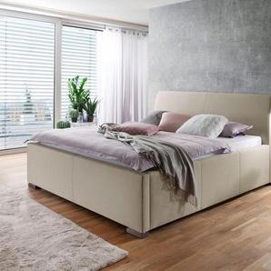 Places of Style Polsterbett »La Finca« wahlweise mit Bettkasten, beige, Liegefläche 120x200 cm