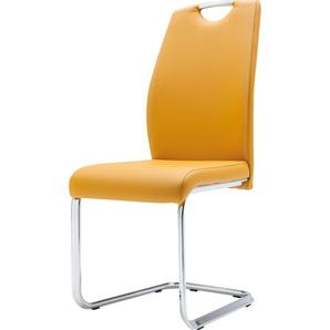 Freischwinger-Stuhl »Reno Style«, gelb, Kunstleder, 2 Stück, set one by Musterring