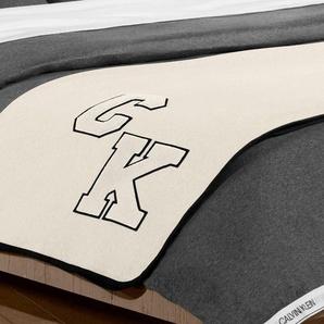 Calvin Klein Home Wohndecke »Varsity«, 127x178 cm, braun, aus 100% Baumwolle