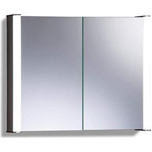 LED beleuchteter Badezimmer Spiegelschrank (Tageslichtweiß bei 6500K) TÜV geprüft mit Antibeschlag-Pad ohne sichtbare Kabel, Steckdose, Sensor-Schalter und LED-Lichter 65cm x 80cm x16cm (HxBxT) C13