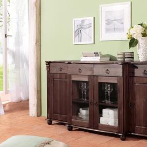 Home affaire Sideboard »Ferrera« 167 cm breit, braun, Gr. onesize, HOME AFFAIRE, Material: Kiefer, Holz