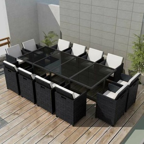 12-Sitzer Gartengarnitur Granoff mit Polster