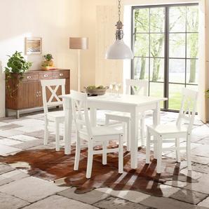 Home affaire Essgruppe , 160-199/80cm & 4er-Pack Stühle, »Madrid«, FSC®-zertifiziert