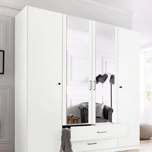 rauch Kleiderschrank »Bergheim« abschließbar, weiß, 180 cm x 197 cm x 54 cm