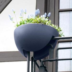 rephorm Eckling Pflanzbehälter,Balkon Geländertopf, Ø 44 cm, graphit